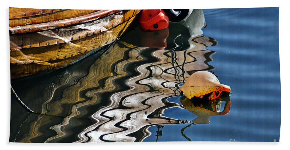 Lyme Regis Bath Sheet featuring the photograph Harbour Reflections by Susie Peek