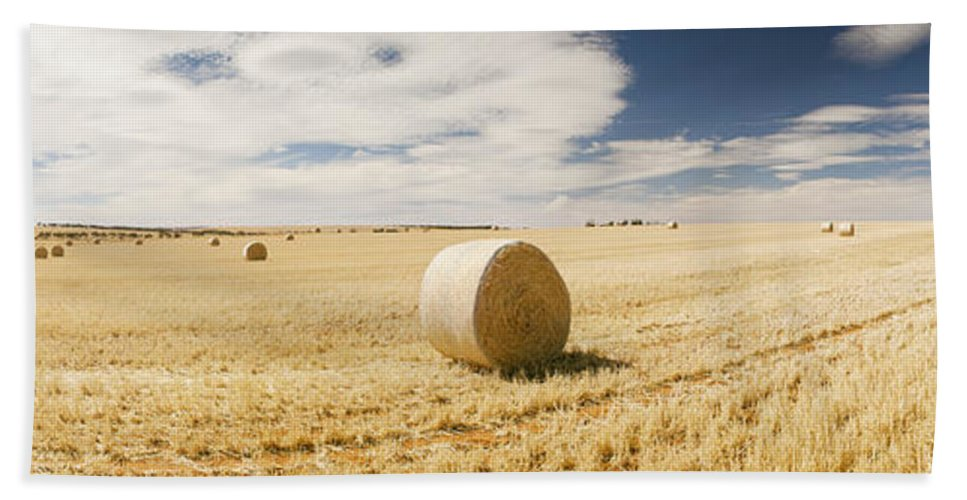 Farm Bath Sheet featuring the photograph Harvest by Tim Hester