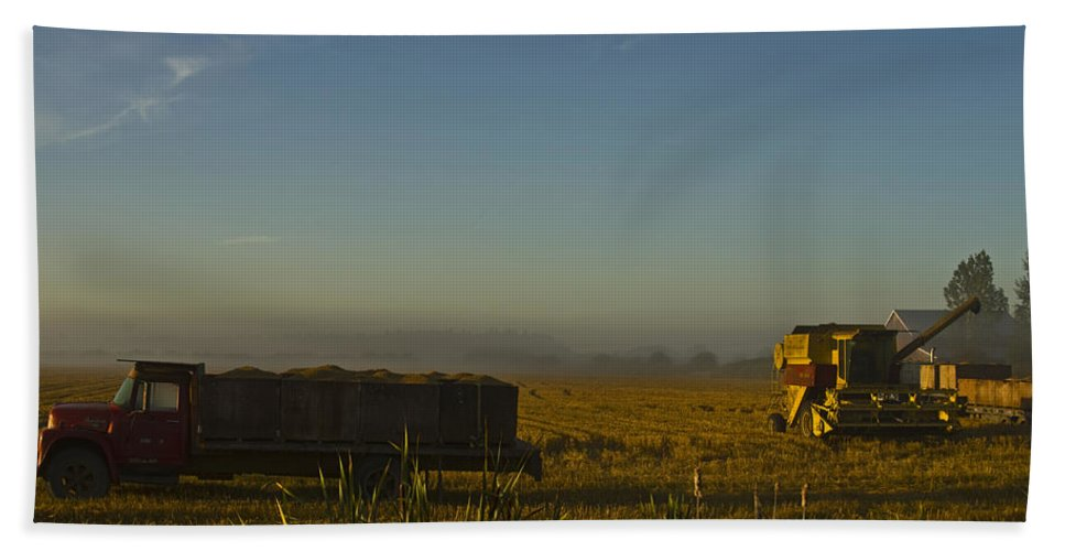 Farm Hand Towel featuring the photograph Harvest Time by Rob Mclean
