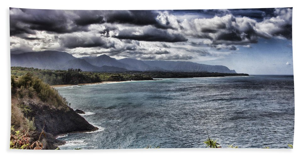 Hawaii Bath Sheet featuring the photograph Hawaii Big Island Coastline V2 by Douglas Barnard