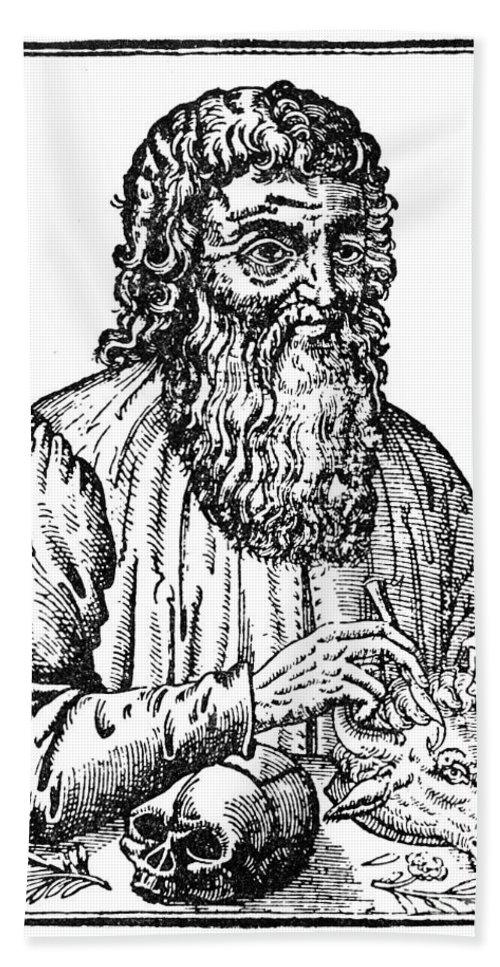 1561 Bath Sheet featuring the photograph Hippocrates (c460-c377 B.c.) by Granger