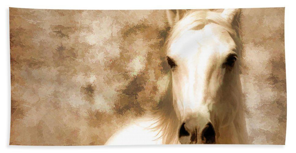 Horses Hand Towel featuring the photograph Horse Whisper by Athena Mckinzie