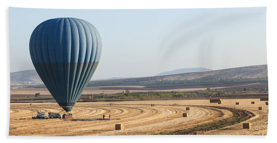 Jezreel Valley Hand Towel featuring the photograph Hot Air Balloon by Gal Eitan