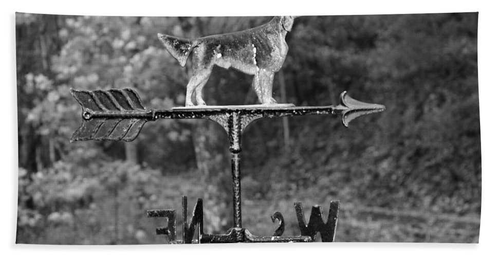 Hound Dog Weather Vane Hand Towel featuring the photograph Hound Dog Weather Vane by Dan Sproul