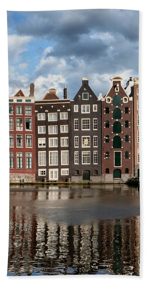 Amsterdam Bath Sheet featuring the photograph Houses In Amsterdam by Artur Bogacki