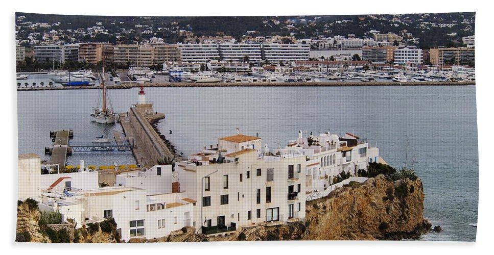 Ibiza Bath Sheet featuring the photograph Ibiza Town by Karol Kozlowski
