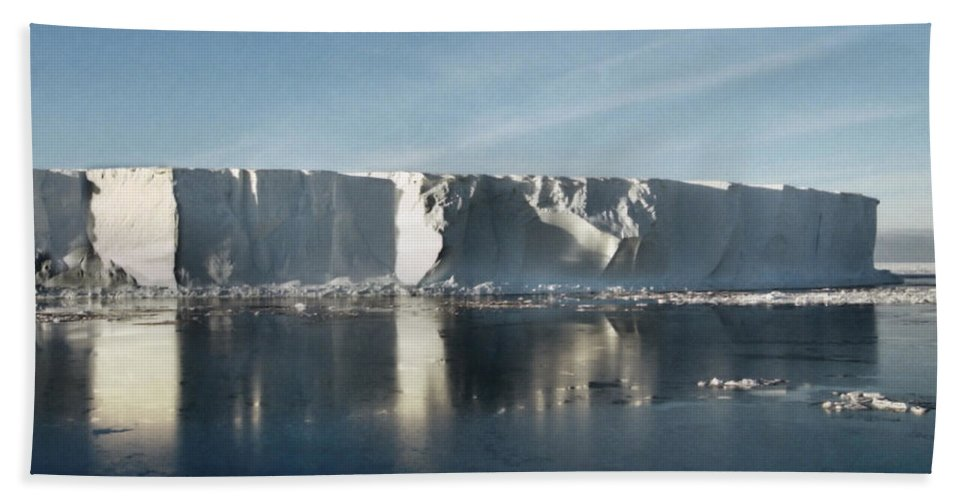Sunshine Hand Towel featuring the photograph Iceberg Ross Sea Antarctica by Carole-Anne Fooks