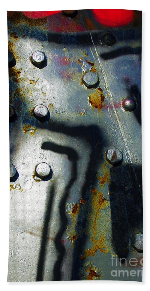 Industrial Bath Sheet featuring the photograph Industrial Detail by Carlos Caetano