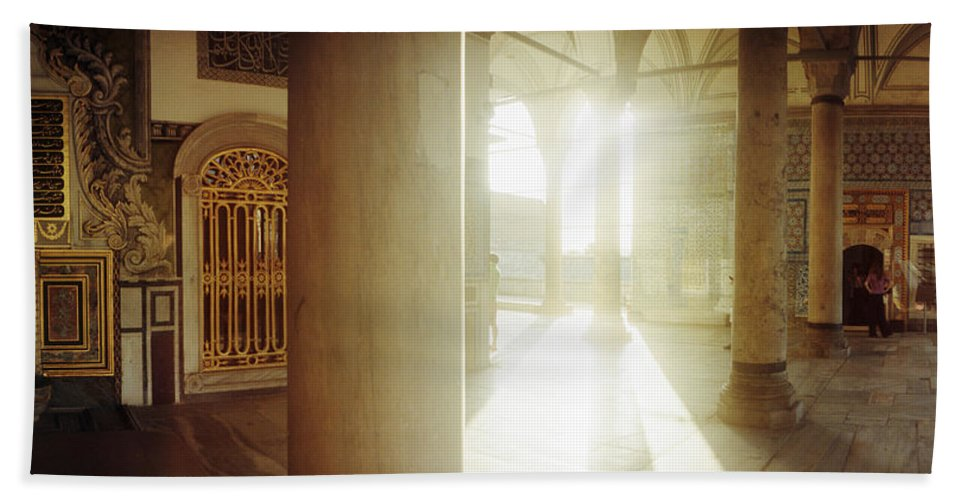 Photography Bath Towel featuring the photograph Interiors Of Topkapi Palace by Panoramic Images
