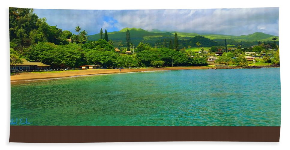 Sea Bath Sheet featuring the painting Island Of Maui by Michael Rucker