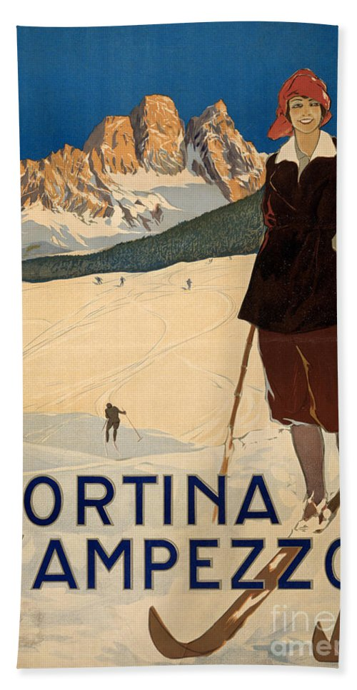 1920 Bath Sheet featuring the photograph Italian Travel Poster by Granger