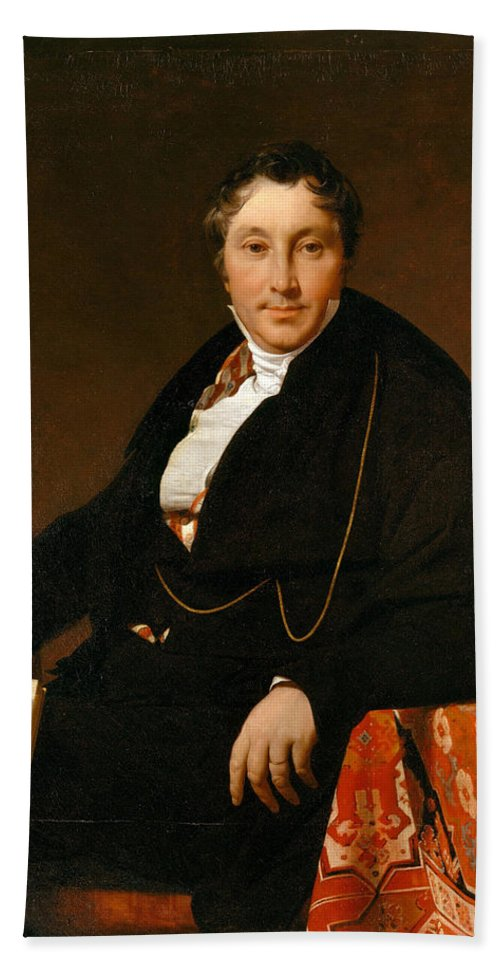 Jean Auguste Dominique Ingres Hand Towel featuring the painting Jacques-louis Leblanc by Jean Auguste Dominique Ingres