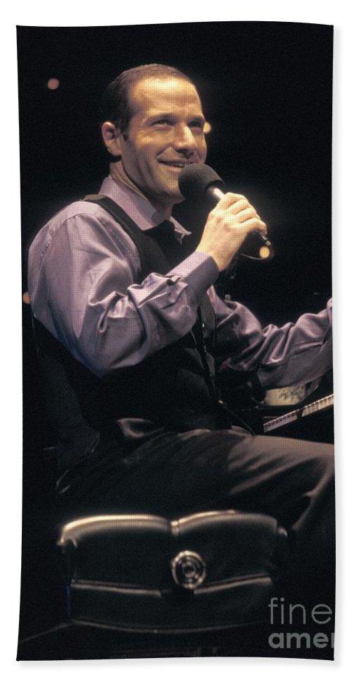 Pianist Bath Sheet featuring the photograph Jim Brickman by Concert Photos