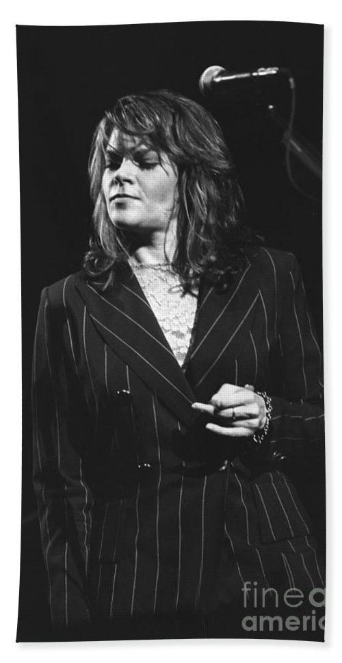 Roseanne Cash Bath Sheet featuring the photograph Johnny Cash by Concert Photos