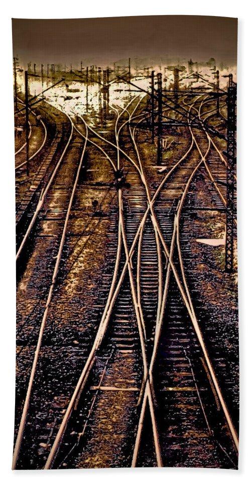 Railway Track Bath Sheet featuring the photograph Journey by Sagar Lahiri