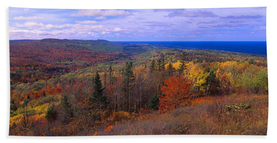 Photography Hand Towel featuring the photograph Keweenaw Peninsula And Copper Harbor by Panoramic Images