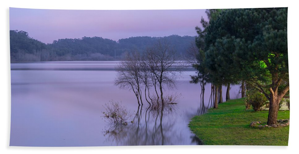 Lake Hand Towel featuring the photograph Lake Pateira V by Alexandre Martins