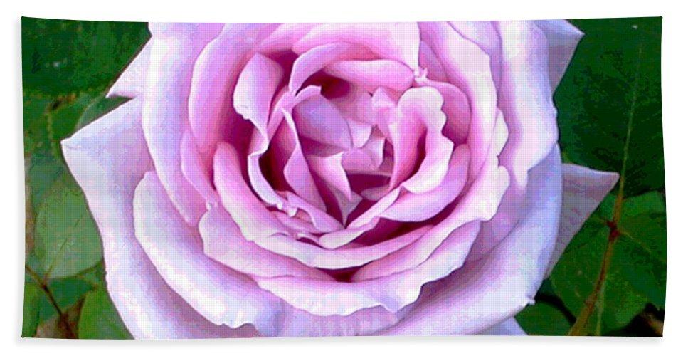 Digital Bath Sheet featuring the digital art Lavendar Rose by Alys Caviness-Gober