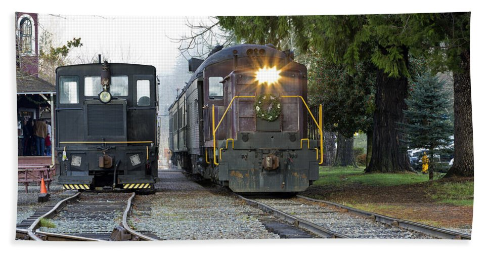 Locomotive Bath Sheet featuring the photograph Locomotive by Paul Fell