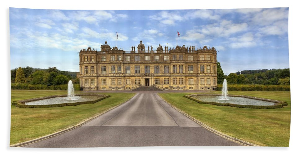 Longleat House Bath Sheet featuring the photograph Longleat House Wiltshire by Joana Kruse