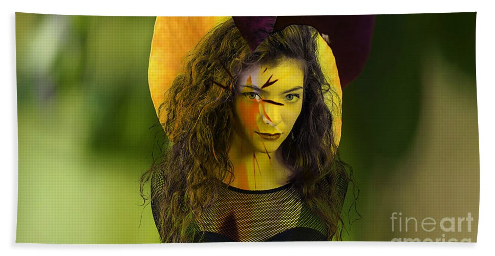 Lorde Digital Art Mixed Media Hand Towel featuring the mixed media Lorde Original by Marvin Blaine