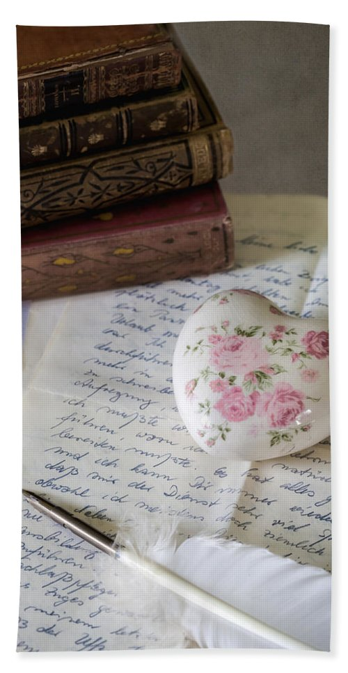 Quill Hand Towel featuring the photograph Love Letter by Joana Kruse
