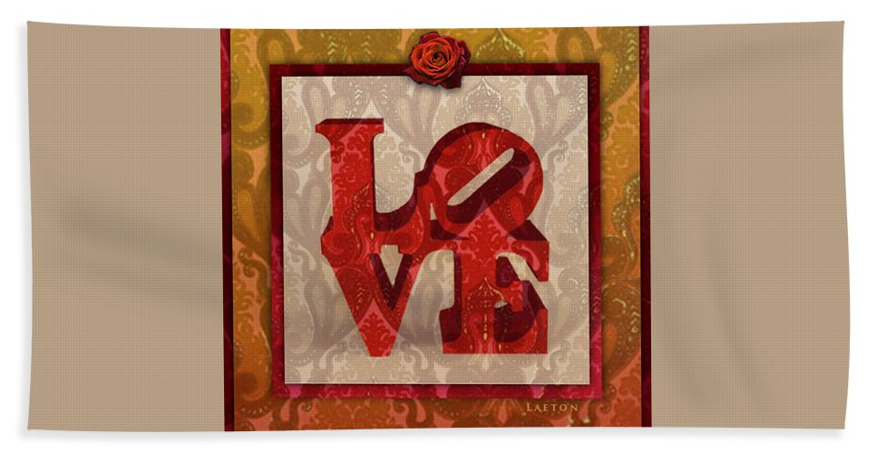 Love Hand Towel featuring the photograph Love by Richard Laeton