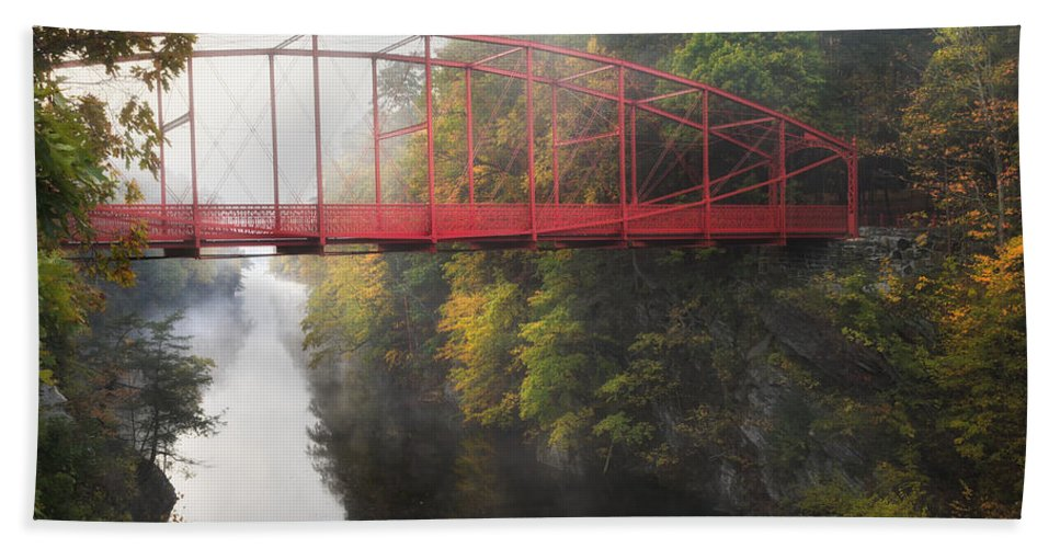 Lovers Leap Hand Towel featuring the photograph Lovers Leap Bridge by Bill Wakeley