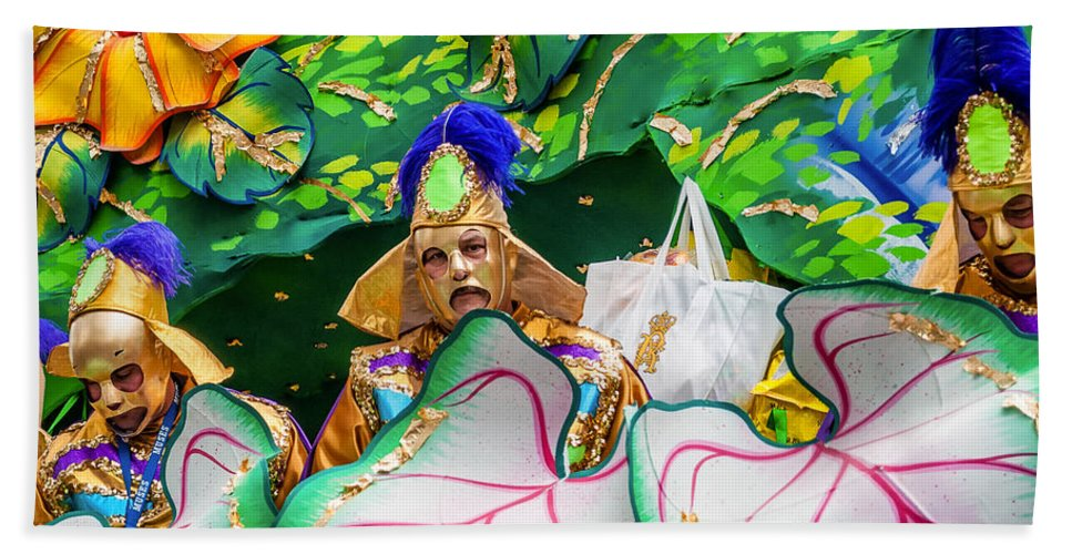 Nola Bath Sheet featuring the photograph Mardi Gras Float by Steve Harrington