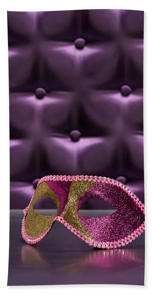 Button-tufted Hand Towel featuring the photograph Masquerade by U Schade