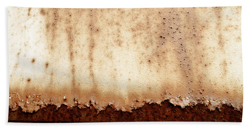 Rust Hand Towel featuring the photograph Metal Texture by TouTouke A Y