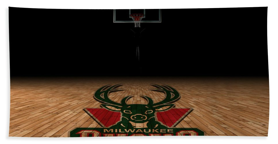 Bucks Hand Towel featuring the photograph Milwaukee Bucks by Joe Hamilton
