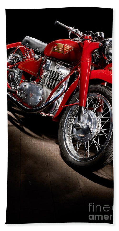 Motorcycle Hand Towel featuring the photograph Mm 250 Ss Super Sport by Frank Kletschkus