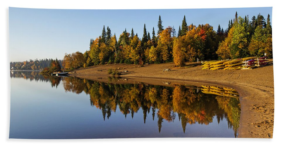 Laurentian Bath Sheet featuring the photograph Mont-tremblant National Park by Mircea Costina Photography
