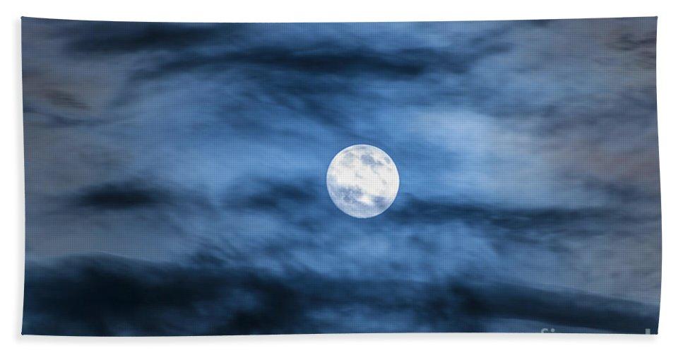 Moon Bath Sheet featuring the photograph Moon by Mats Silvan