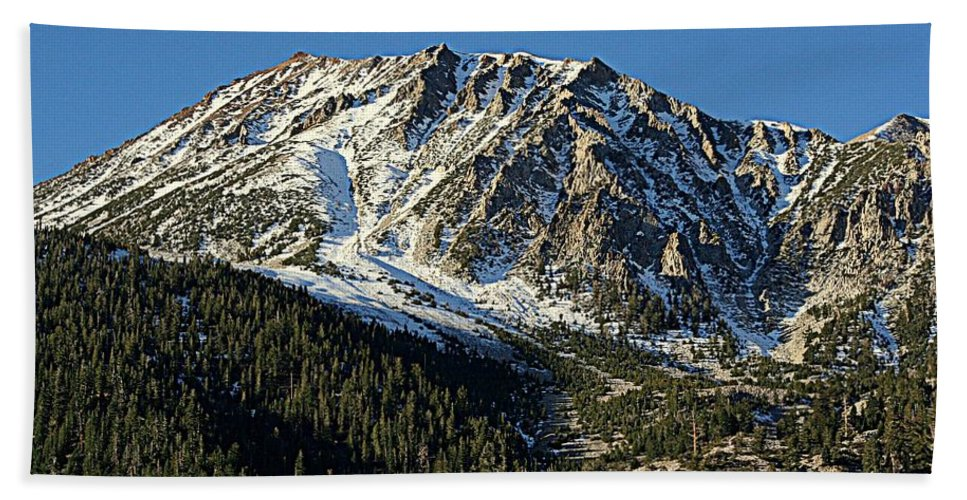 Mountains Hand Towel featuring the photograph Mount Tom by Lynn Bawden