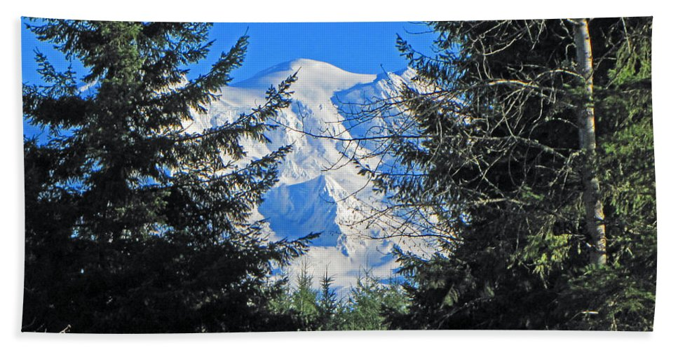 Mountain Bath Sheet featuring the photograph Mt. Rainier I by Tikvah's Hope