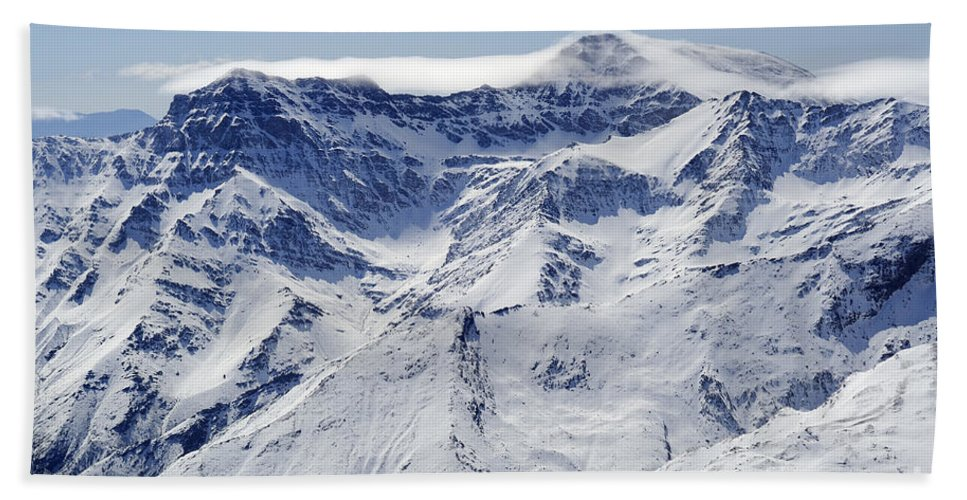 Aerial Photo Hand Towel featuring the photograph Mulhacen by Guido Montanes Castillo
