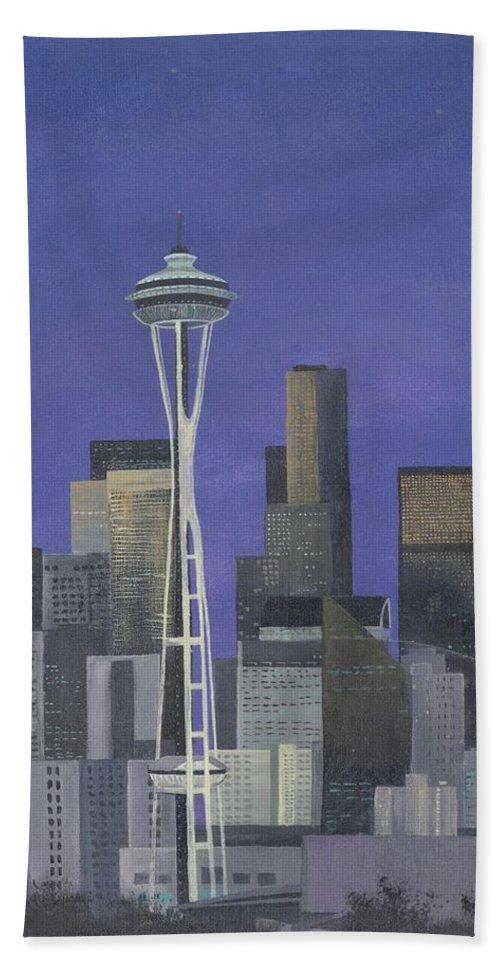 City Hand Towel featuring the painting 'my Brother' by Whitney Tomlin