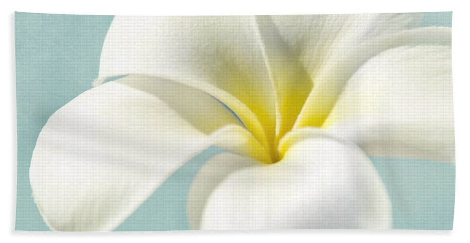 Plumeria Bath Sheet featuring the photograph My Hope Carries Me . . . by Sharon Mau