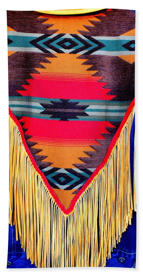 Indian Hand Towel featuring the photograph Native American Shawl by Dora Sofia Caputo Photographic Design and Fine Art