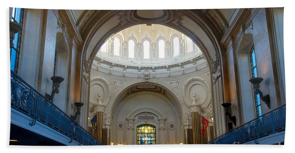 Academy Bath Sheet featuring the photograph Naval Academy Chapel by Mark Dodd
