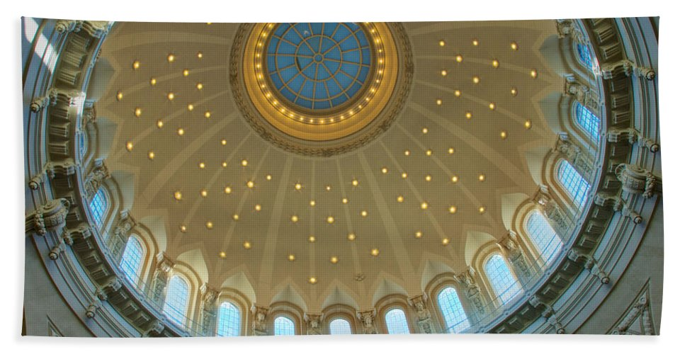 Academy Bath Sheet featuring the photograph Naval Academy Chapel Side Dome by Mark Dodd