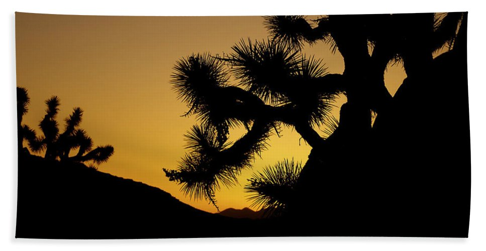 Tree Hand Towel featuring the photograph New Photographic Art Print For Sale Joshua Tree At Sunset by Toula Mavridou-Messer