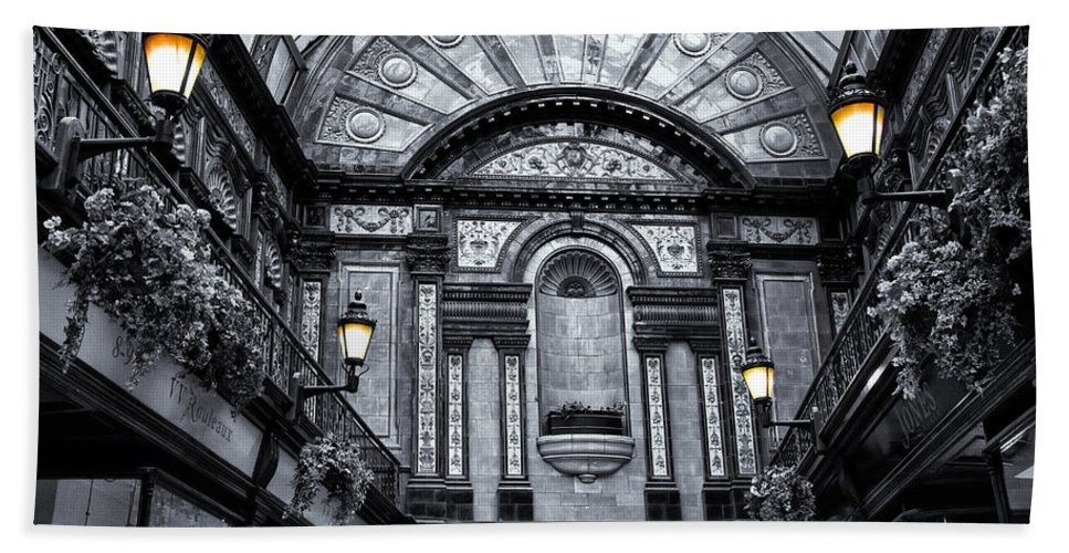 Central Hand Towel featuring the photograph Newcastle Central Arcade by David Pringle