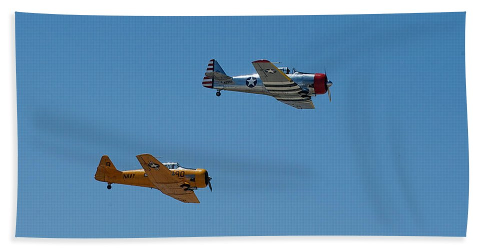 North American Snj-5 Hand Towel featuring the photograph North American Snj-5 2 by Richard J Cassato