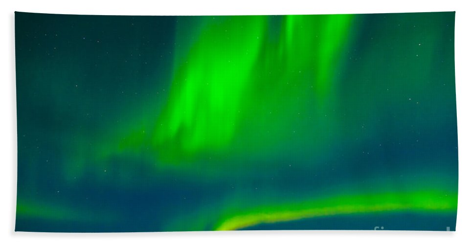 Adventure Bath Sheet featuring the photograph Northern Lights Or Aurora Borealis by Stephan Pietzko