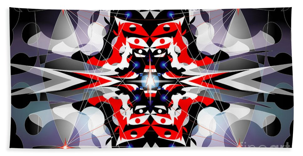 Abastract Bath Sheet featuring the digital art Nova by George Pasini