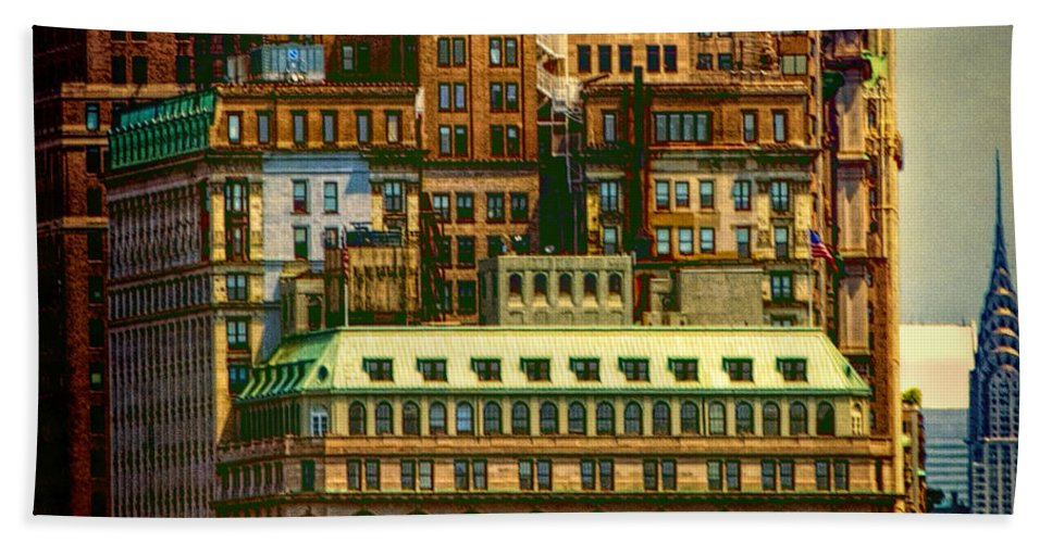 New York City Bath Sheet featuring the photograph Nyc by Claude LeTien