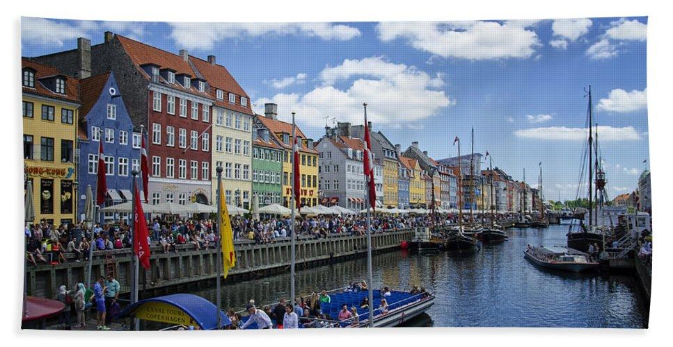Ships Hand Towel featuring the photograph Nyhavn - Copenhagen Denmark by Jon Berghoff
